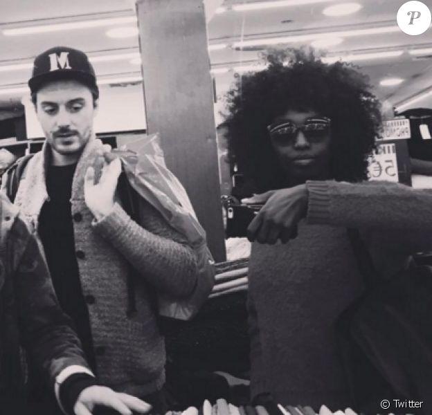 Marco Conti, au milieu, et Inna Modja, twitter 2015