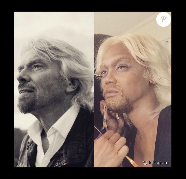 Pour l'émission spéciale Halloween du FABLife Show, Tyra Banks s'est transformée en Richard Branson / photo postée sur Instagram