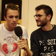 Cyprien et Squeezie en interview lors du salon Video City à Paris le 7 novembre 2015