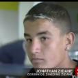 Jonathan, candidat de  Secret Story 9  et cousin de Zinédine Zidane dans le journal télévisé de France 2, le 12 août 2004.