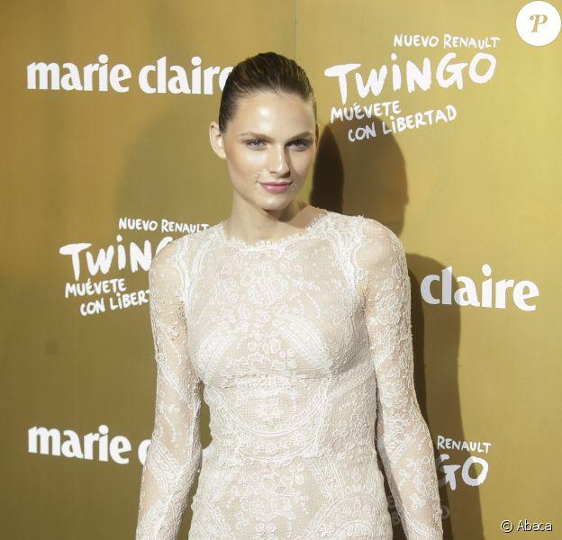 Andreja Pejic assiste à la soirée Marie-Claire à Madrid, le 19 novembre 2015.