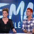 Benoit Dubois, auprès de Capucine Anav, répond à Thomas Vitiello, dans Le Mag des télé-réalités sur NRJ12, le 30 septembre 2015