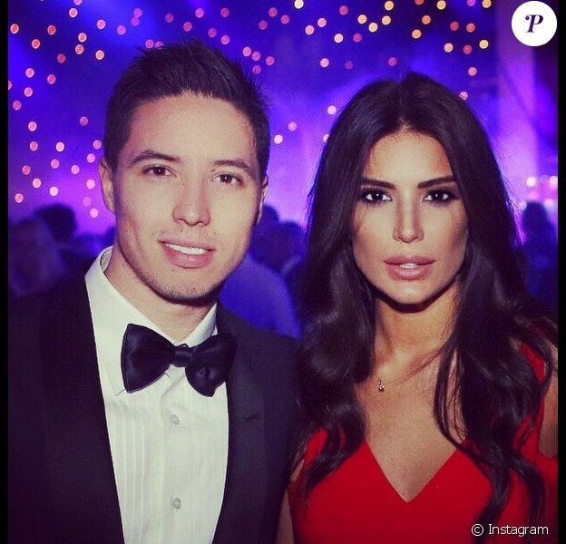 Samir Nasri et sa belle Anara Atanes - décembre 2014.