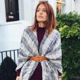 Caroline Receveur, magnifique avec des cheveux roux. Novembre 2015.