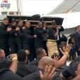 Les obsèques nationales en hommage à Jonah Lomu qui se déroulaient à l'Eden Park d'Auckland, le 30 novembre 2015