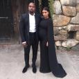 Kanye West et Kim Kardashian, invités au mariage de Steve Stoute à New York. Le 6 septembre 2015.