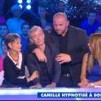 """Gilles Verdez hypnotisé dans """"Touche pas à mon poste"""", le 4 décembre 2014 sur D8."""