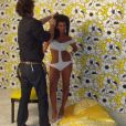 Kim Kardashian nostalgique poste des photos du shooting qu'elle a réalisé pour Playboy il y a plusieurs années. Elle vient de dévoiler avoir pris plus de 27 kilos pendant sa 2e grossesse / photo postée sur Twitter, le 15 décembre 2015.