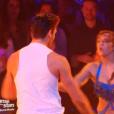 Priscilla, Christophe Licata et Chris Marques, dans la demi-finale de  Danse avec les stars 6 , le vendredi 18 décembre 2015 sur TF1.