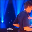 Olivier Dion, Candice Pascale et Fauve Hautot, dans la demi-finale de  Danse avec les stars 6 , le vendredi 18 décembre 2015 sur TF1.