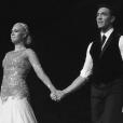 Katrina Patchett et Maxime Dereymez à Lille le 21/12/15 rendent hommage au papa disparu de la danseuse