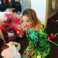 Khloé Kardashian et sa nièce North fêtent Noël en famille à Los Angeles, le 25 décembre 2015.