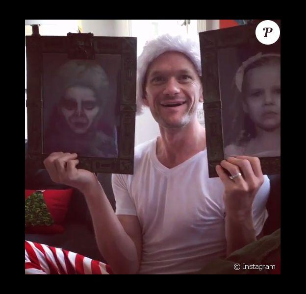 Neil Patrick Harris a reçu un effrayant cadeau à l'image des jumeaux Harper et Gideon pour Noël / photo postée sur Instagram, le 26 décembre 2015.