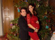 Jade Foret, prête à accoucher : Robe rouge sexy pour un tendre Noël