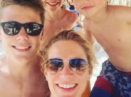 Sandrine Corman : Vacances à la mer avec Harold (2 mois) et son mari