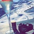 Amélie Neten en vacances au ski avec son fils Hugo (4 ans). Décembre 2015.