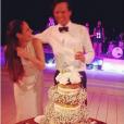 Clementine Goutal et Andres Rodriguez le jour de leur mariage, le 5 décembre 2015 - Photo publiée le 7 décembre 2015