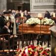 Obsèques de Michel Delpech en l'église Saint-Sulpice à Paris, le 8 janvier 2016.