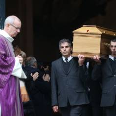 Obsèques de Michel Galabru en l'église Saint-Roch à Paris le 12 janvier 2016.