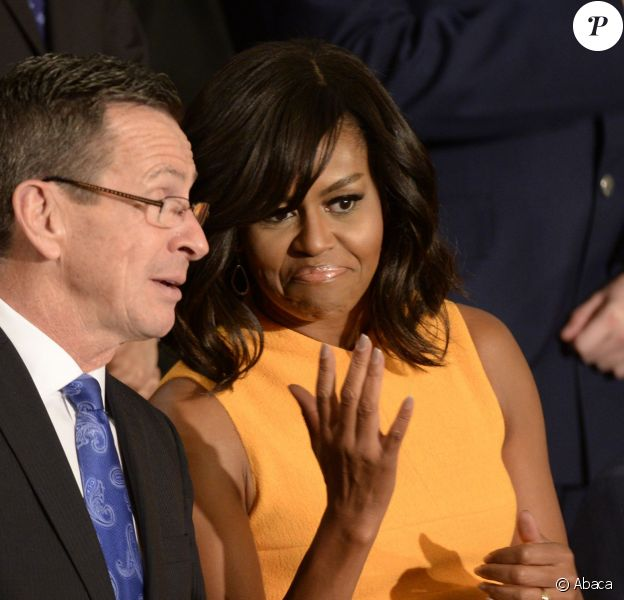La First Lady Michelle Obama - Barack Obama s'exprime au Capitole à Washington, pour son dernier discours sur l'état de l'Union, le 12 janvier 2016
