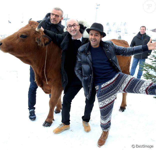 Lambert Wilson, Fatsah Bouyahmed, Jamel Debbouze, Mohamed Hamidi - 19e Festival International du film de Comédie de l'Alpe d'Huez le 14 Janvier 2016.