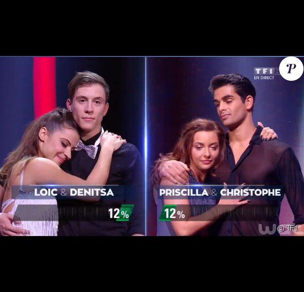 Loïc Nottet et Denitsa grands vainqueurs lors de la finale de Danse avec les stars 6, sur TF1, le mercredi 23 décembre 2015