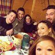 Nathalie N'Guyen, Quentin Bourdy, Noémie Honiat, Vanessa Robuschi, Adel Dakkar, Denny Imbroisi et Silvia Notargiacomo ( Danse avec les stars ), en Haute-Savoie à l'occasion du Festival international de gastronomie, le lundi 18 janvier 2016.
