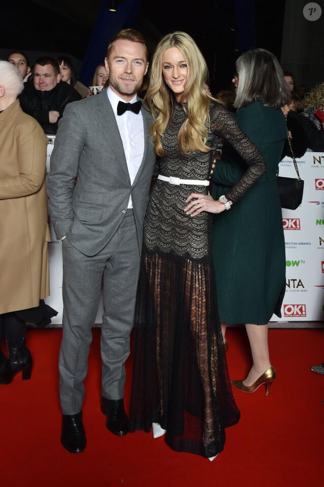 Ronan Keating et sa femme Storm uechtritz - People au National Television Awards à Londres. Le 20 janvier 2016