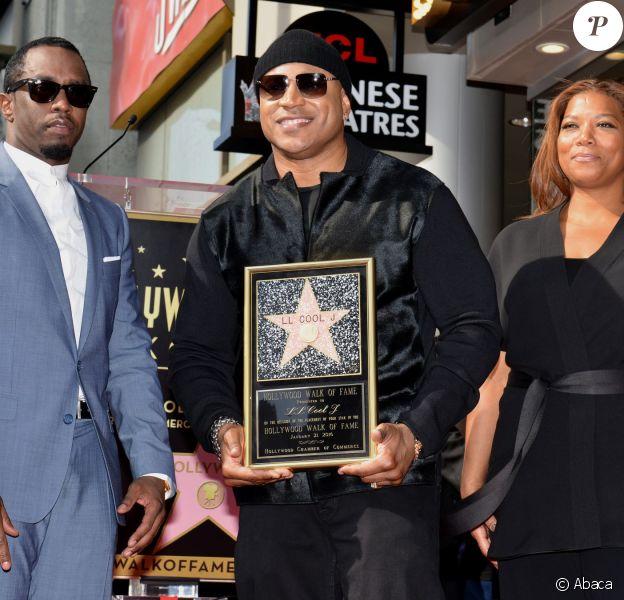 Sean 'Diddy' Combs et Queen Latifah sont venus asssiter à la cérémonie qui récompense la carrière de LL Cool J qui a reçu son étoile sur le Hollywood Walk of Fame à Los Angeles, le 21 janvier 2016
