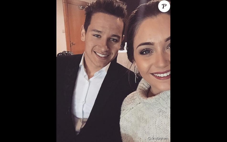 Charlotte Pirroni et Florian Thauvin le 13 janvier 2016.
