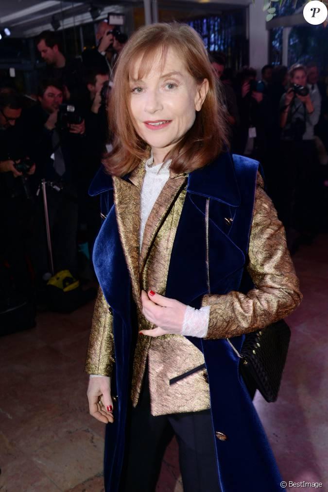 Isabelle huppert d ner de la mode 2016 pour le sidaction au pavillon d 39 armenonville paris - Isabelle huppert coup de torchon ...