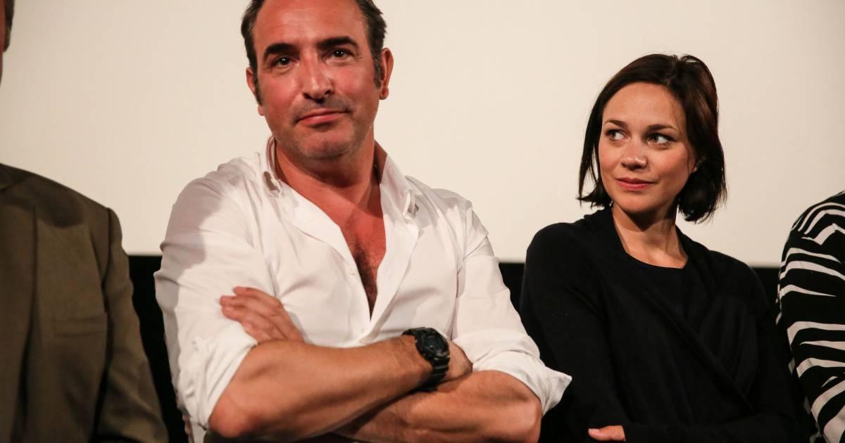 Jean dujardin et sa compagne nathalie p chalat jean for Jean dujardin et sa fille