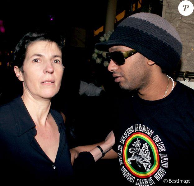 Christine Angot et Doc Gynéco - Remise du Prix de Flore à Paris, le 9 novembre 2006.