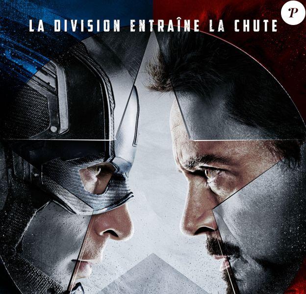 Affiche de Captain America : The Civil War.