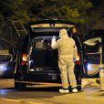 La Police judiciaire des Alpes Maritimes procède aux premiers relevés de preuves sur le véhicule où Hélène Pastor et son chauffeur on été victimes d'un assassinat devant l'hôpital de l'Archet à Nice le 6 mai 2014.