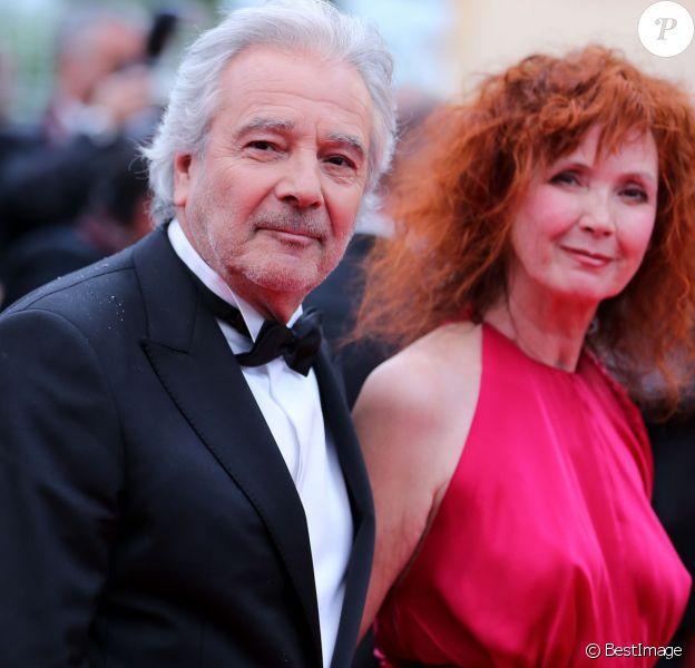 Pierre Arditi et Sabine Azéma à Cannes le 21 mai 2012.