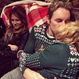Dax Shepard a publié une photo avec sa femme Kristen Bell sur sa page Instagram, le 14 février 2016.
