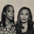 Kelly Rowland et Tina Knowles à la soirée d'anniversaire de Kelly Rowland qui fêtait ses 35 ans au Sunset Tower Hotel à West Hollywood. Le 20 février 2016.