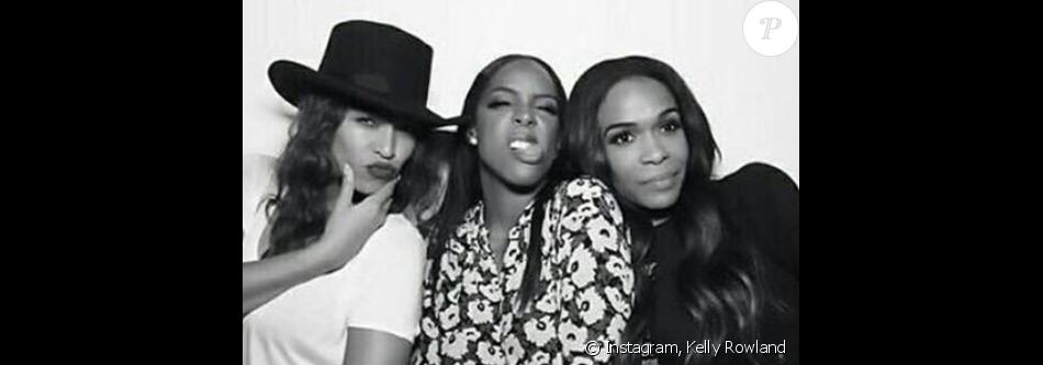 Beyoncé Knowles, Kelly Rowland et Michelle Williams. Les Destiny's Child à la soirée d'anniversaire de Kelly Rowland qui fêtait ses 35 ans au Sunset Tower Hotel à West Hollywood. Le 20 février 2016.
