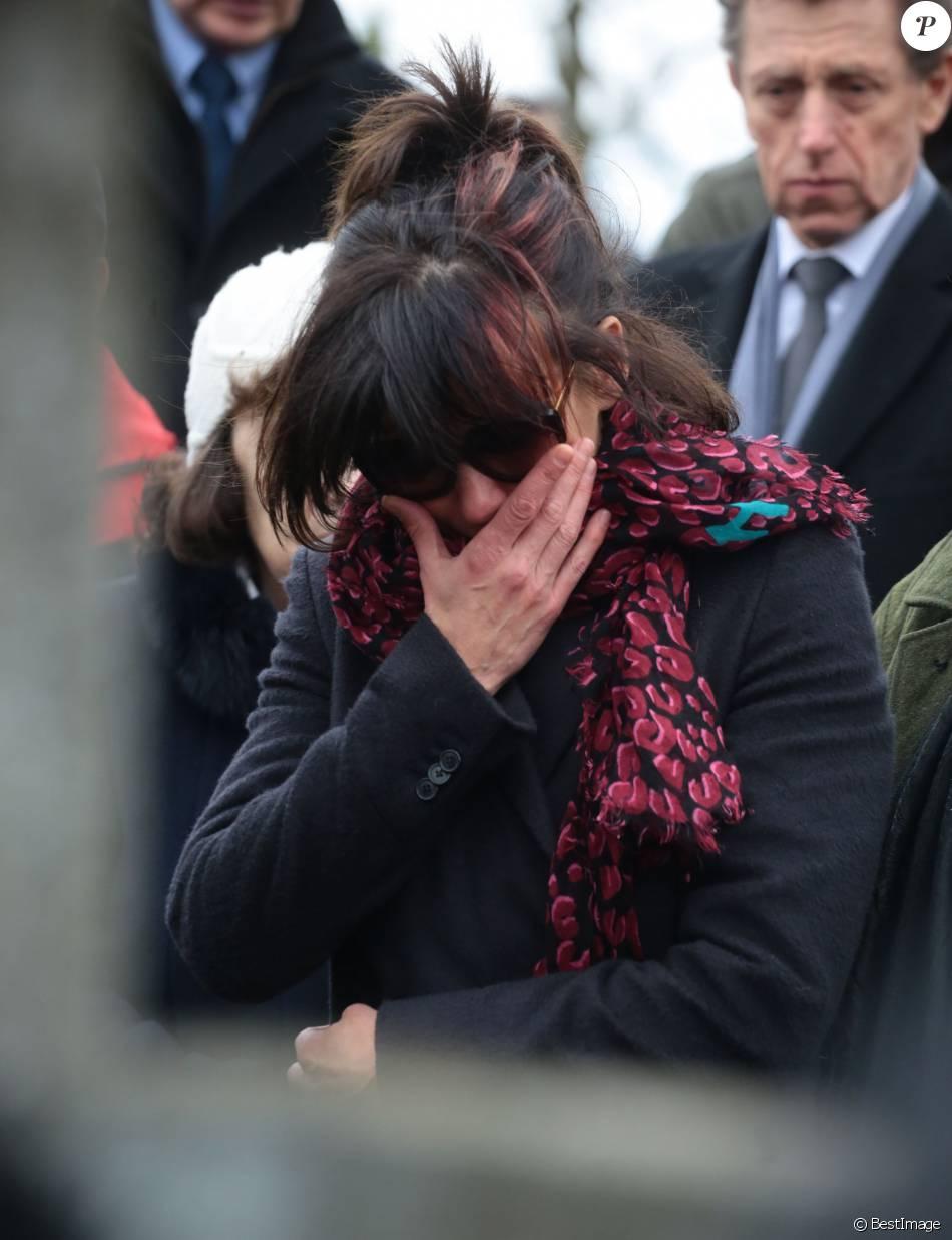 Sophie Marceau assiste aux obsèques de son ex Andrzej Zulawski à Gora Kalwaria, près de Varsovie en Pologne le 22 février 2016.BEW / Bestimage