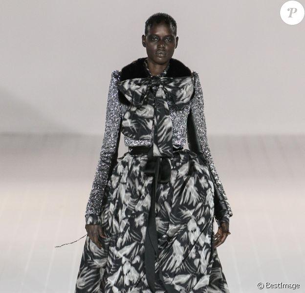 Ajak Deng - Défilé Marc Jacobs collection prêt-à-porter Automne-hiver 2016-2017 à New York, le 18 février 2016.