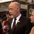 J.K Simmons et son épouse aux Oscars.