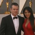 Matt Damon et Luciana aux Oscars 2016