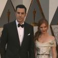 Sacha Baron Cohen et Isla Fisher aux Oscars 2016.