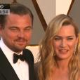 Leonardo DiCaprio et Kate Winslet se retrouvent aux Oscars - 28 février 2016