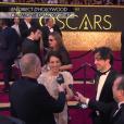 Deniz Gamze Ergüven, réalisatrice de Mustang qui représente la France - Tapis rouge de la 88e cérémonie des Oscars le 28 février 2016