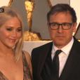 Jennifer Lawrence et David O. Russell aux Oscars 2016.