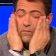 """Michel Sarran en larmes suite à l'élimination de Kévin - """"Top Chef 2016"""" sur M6. Episode du 29 février 2016."""