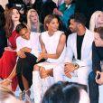 Emmy Rossum, Kelly Rowland, Ciara et Kelly Rowland au premier rang du défilé Lanvin au lycée Carnot. Paris, le 3 mars 2016.