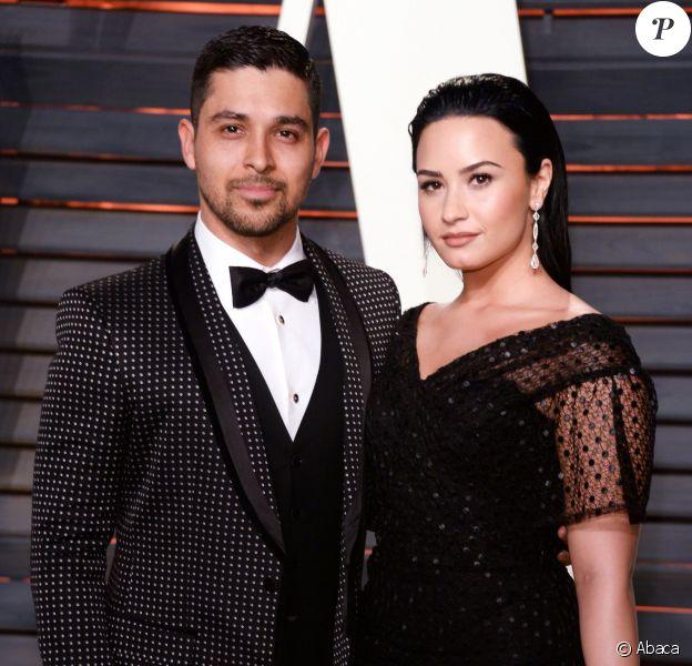 Wilmer Valderrama, Demi Lovato à la soirée Vanity Fair Oscar, le 28 février 2015 à Beverly Hills, Los Angeles.